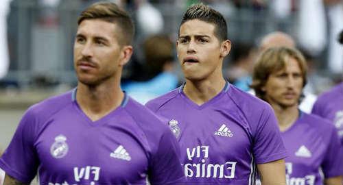 Ramos angkat bicara soal rumor kepindahan James Rodriguez